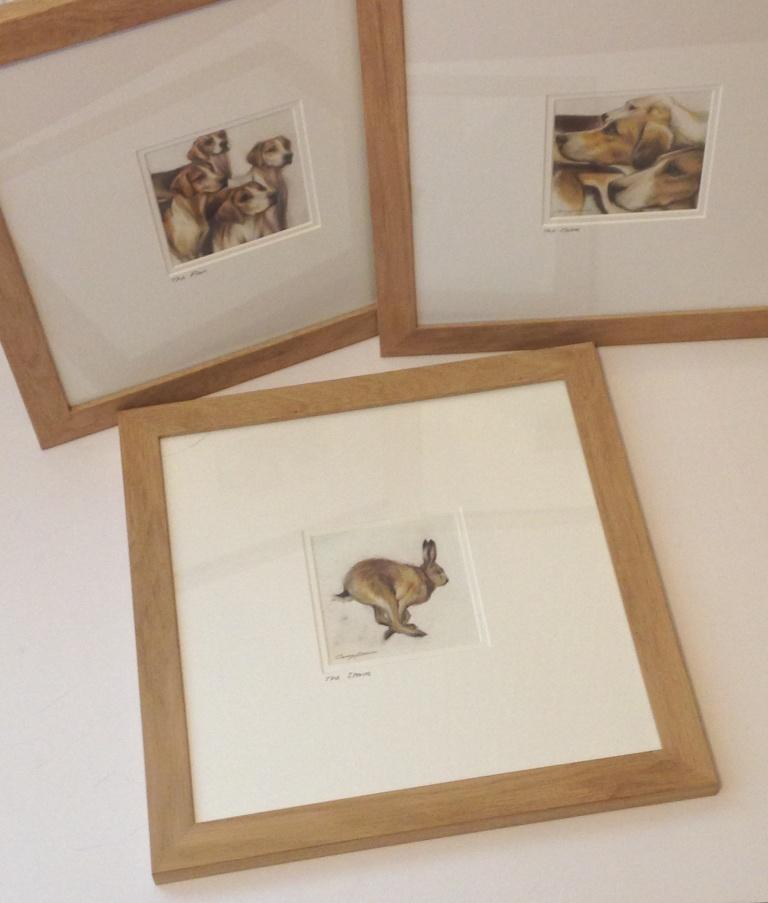 hare hounds drawings Casey Allum artist