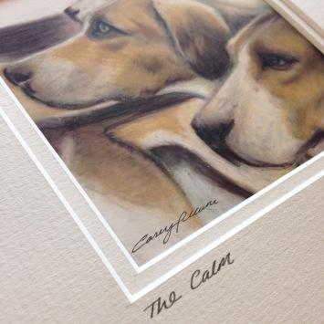 hounds drawing Casey Allum artist