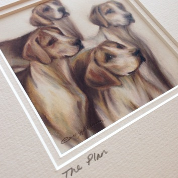 hounds drawing Casey Allum artist