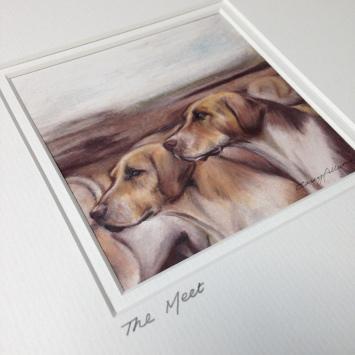 hounds drawing colour pencil Casey Allum