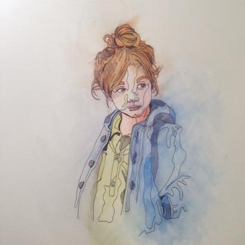 cllimber watercolour cute sketch biro Casey Allum artist