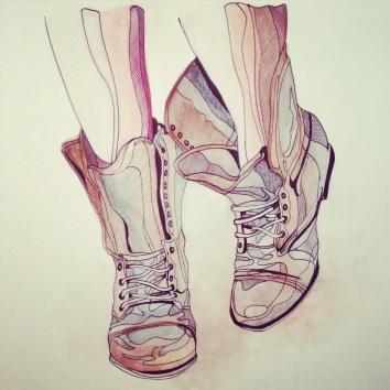 biro sketch drawing artist Casey Allum