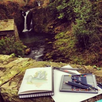 Watercolour Waterfall