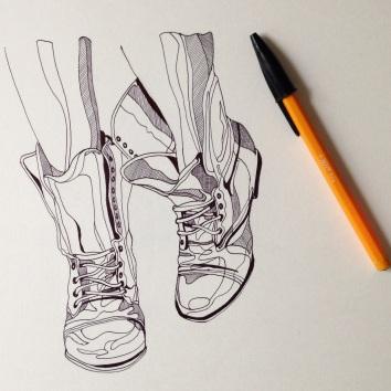 biro sketch illustration Casey Allum artist