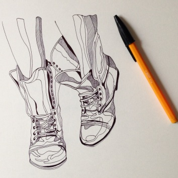 biro sketch illustration Casey Allum artist