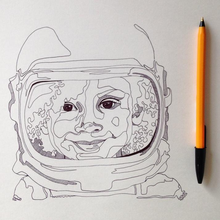 sketch biro illustration Casey Allum artist