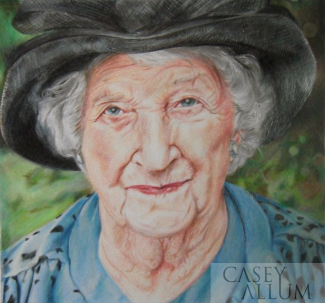 portrait artist colour pencil Casey Allum