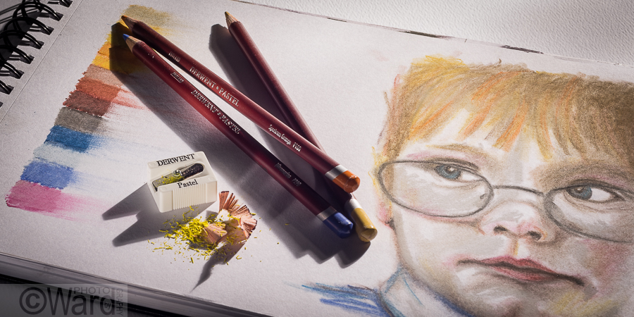 Pastel Pencil, Photography by Ward